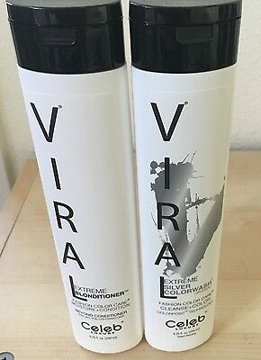 Celeb Luxury Viral Extreme SILVER ColorWash & Extreme Blonditioner 8.25oz Duo