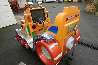 Tecway Kiddie Dozer, Large Amusement Arcade - Fairground Ride Coin Op. Working