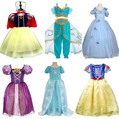 Disney Inspired Princess Dress 6+Sty Kid Girl Halloween Cosplay Costume 2T-12 US