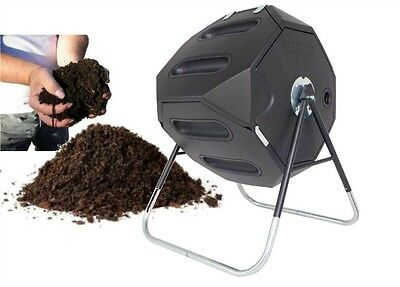 Compost Tumbler Rotates Garden Food Waste Organic Composter Fertilizer 54GL 246L