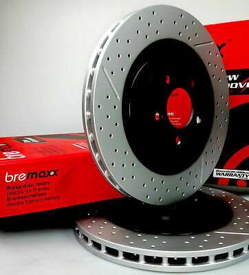BREMAXX slotted & drilled FRONT disc brake rotors FPV BA BF FG 355mm