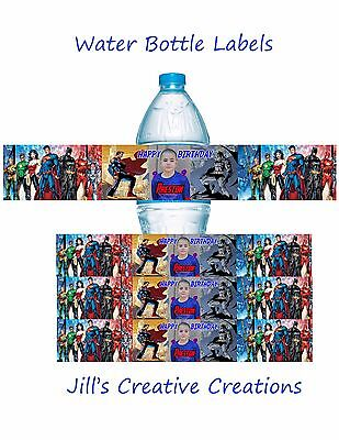 Superhero Water Bottle labels, Superman, Superhero, Birthday, Water bottle label