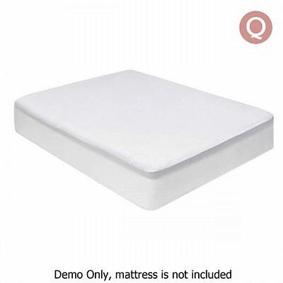 NEW Queen Bed Size Waterproof Bamboo Mattress Protector, Knitted Fabric Skirt