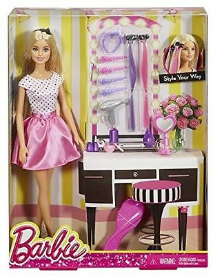 New Barbie Doll with Hair Accessory  3+  djp92