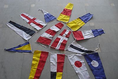Naval Signal Flags / Flag SET- - String of 14 Flag - 12 Feet Long