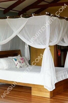 Cotton Mosquito Net. King. Deluxe. Easy Care. Machine Washable.