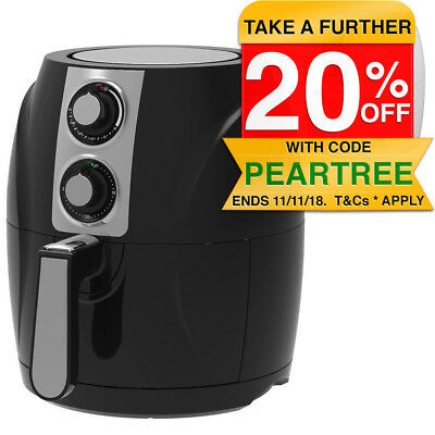Air Fryer 3L Turbo Low Fat Healthy Cooking Cooker 1400W Dishwasher Safe