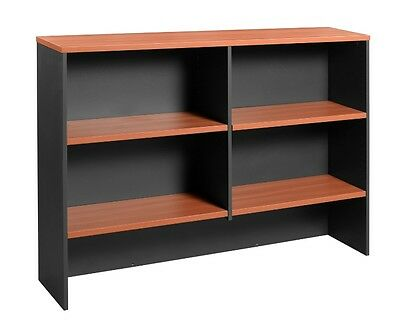 NEW Office Home Desk Overhead Hutch Bookshelf Bookcase Shelving 1800 W