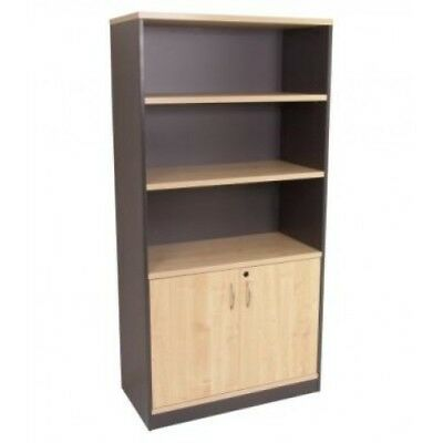 NEW Office home shelves stationery storage half bookcase cabinet Cupboard H