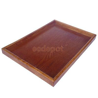 Vintage Japanese Wood Serving Tray SPA Tea Food Dinner Brown Dish Plate-XXL