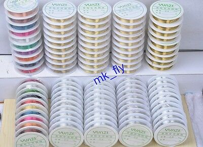 Silver/Gold/Colorized Plated Copper Wire line for DIY Jewelry Making 0.3-0.6mm