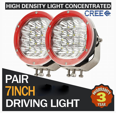 2X 7Inch 3600W Led Driving Light Replace Hid Spot/combo Offroad Jeep Truck 9""