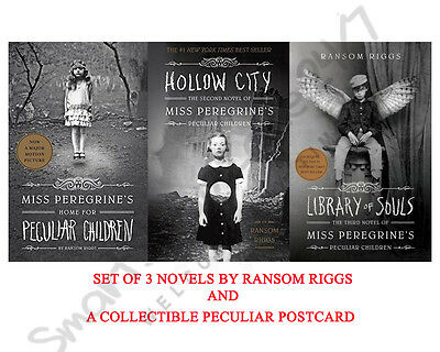Miss Peregrine's Peculiar Children 3 Book Set by Ransom Riggs  NEW