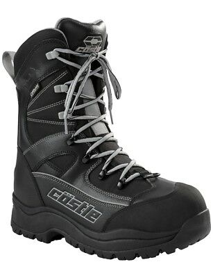 Castle X Snow Men's Force 2 Gray Black Insulated Cold Weather Snowmobile Boot