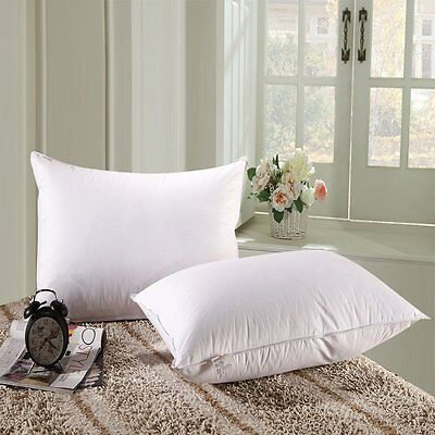 White Goose Down Alternative Pillow King Queen Size Quality Bedding Luxurious