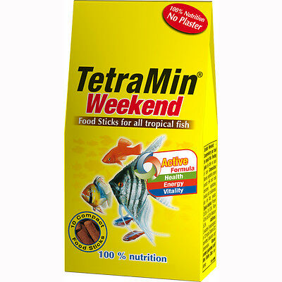 Tetra Min Weekend Holiday Food Feed For All Types Of Tropical Fish 10 Sticks