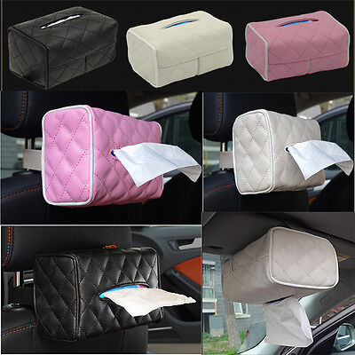 Home Hotel Car PU Leather Tissue Box Napkin Pumping paper Cover Case Holder Hot