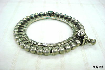 tribal old old silver bracelet bangle vintage antique traditional jewelry