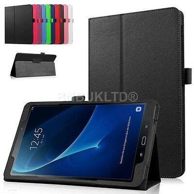Leather Case Glass screen Protector Samsung Galaxy Tab A 10.1 (2016) T580 T585