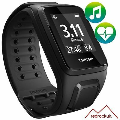 TomTom Spark - Cardio - Music - Blk - Large - MultiSport Watch Activity Tracker