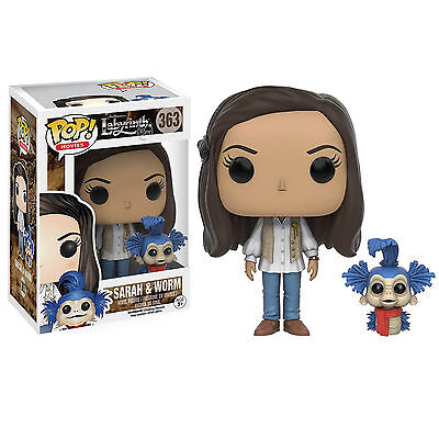 Labyrinth Sarah & Worm Official Licensed Funko POP! Vinyl 363 Figure NEW Hullo