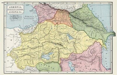 Map Armenia Large Wall Art Print Poster Picture Lf2576