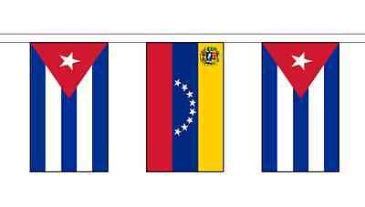 Cuba Friendship 14 Flag 5m Knitted Polyester Diplomatic Bunting