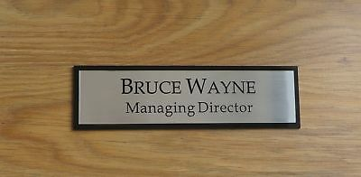 Executive Personalised Office Wall Name Plate, Custom Engraved Sign, Plaque  Door