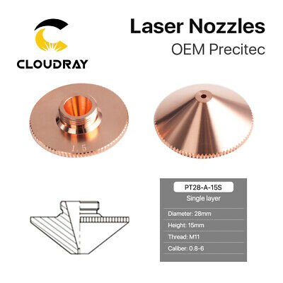 Laser Single Layer Nozzle Dia.28mm M11 Hight 15mm for Fiber Laser Cutting Head