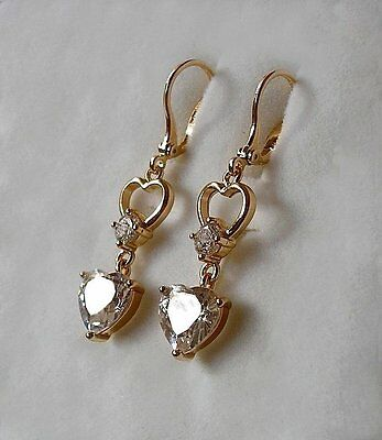 STUNNING 9ct gold gf drop hoop earrings ALMOST SOLD OUT, DONT MISS!  0008