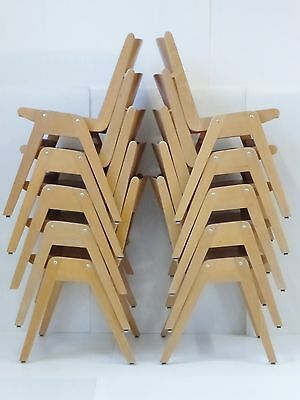 Superb Chair Boomerang Foot Compass Stackable 1950 Vintage 50S Rockabilly Skin