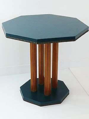 TABLE SIDE HEXAGONAL 1940-1950 VINTAGE DESIGN 40's 50's COFFEE table
