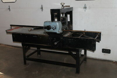 "Lithography press, Bed size 24""x40"", Litho stone, Charles Brand"