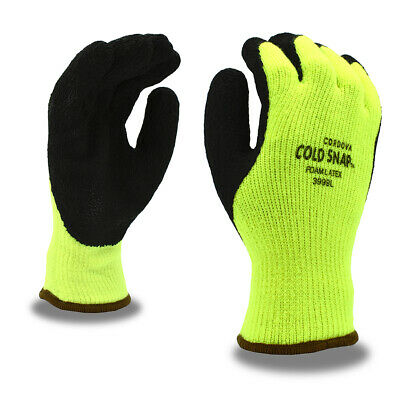 Cordova 3999 Cold Snap™ Gloves, 7 Gauge Thermal Liner, Rough Latex Grip, M-XL