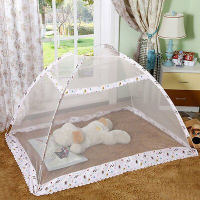 Pop-Up Mosquito Tent without Bottom Cover - Baby Bed Canopy Safety Travel Cribs