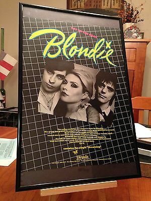 "BIG 11X17 FRAMED BLONDIE ""EAT TO THE BEAT"" LP ALBUM PROMO AD+ REMASTERED CD too!"