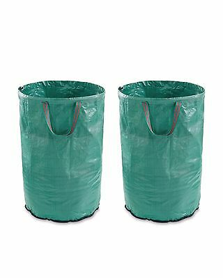2 x Heavy Duty 120 Litre Large Garden Bags Strong Waste Sack 50kg Weight Load