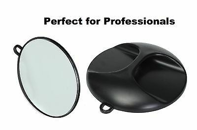 Hair Dressing Salon Barber Round Hand Mirror tools Mirror Black Hairdressing UK