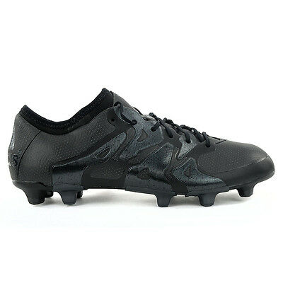 Adidas X 15.1 Black Pack Firm Ground All Black Soccer Boots AQ5350 NEW!