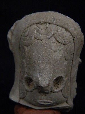 Ancient Teracotta Mother Goddess Head Indus Valley 2000 BC   #TR15212