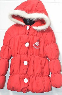 Girls Red Bubble Style Hooded Coat UK Age 7-8 Years (122cm) from Swansea City