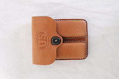 1911 Leather 2 Pocket Pouch, Tan, US