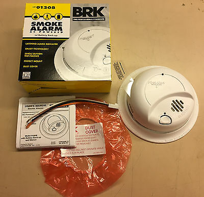BRK 9120B 115VAC smoke alarm with battery back-up, NEW from the factory