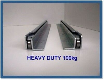 100Kg 4Wd Drawer Runner Fridge Slide H/duty Undermount Slide 600Mm - 1600Mm