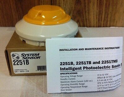System Sensor 2251B addressable smoke detector head, NIB