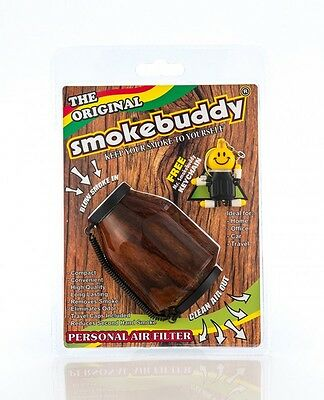 Smoke Buddy Original Wood Personal Air Odor Purifier Cleaner Filter + Key chain