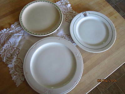 Vintage collectible set of 3 older Syracuse China plates, different patterns