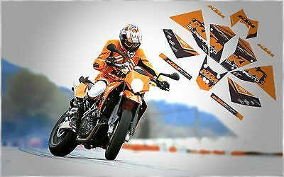 Ktm Factory Racing 950 Supermoto 2005 Complete Fairing Graphic Decals Kit