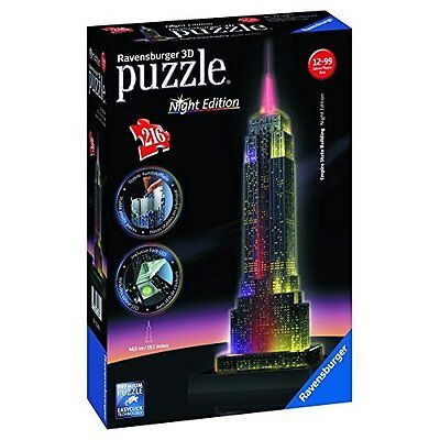 Ravensburger - 12566 1 - Empire State Building, Night Special Edition, Puzzle 3D