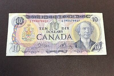1971 Canada Banknotes Ten Dollars See Pictures